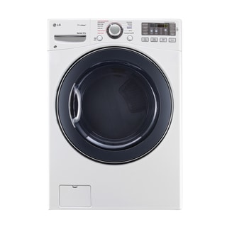 LG DLEX3570W 7.4-cubic Feet Ultra Large Capacity SteamDryer with NFC Tag On in White