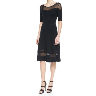 Elie Tahari Jandra Black Sweater Dress