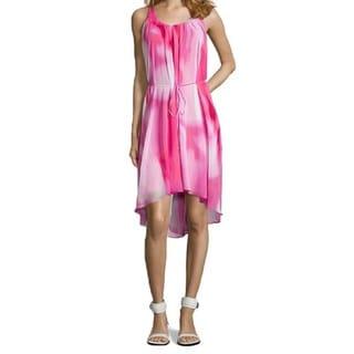 Tahari Jane Pink High-low Hem Dress