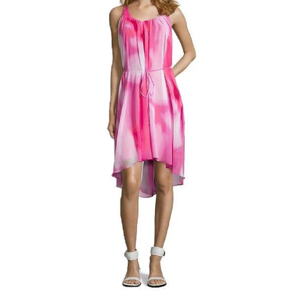 Tahari Jane Pink High-low Hem Dress