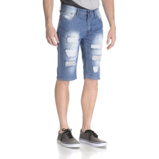 Respect Our Kingdom Men's Rip and Repair Denim Short