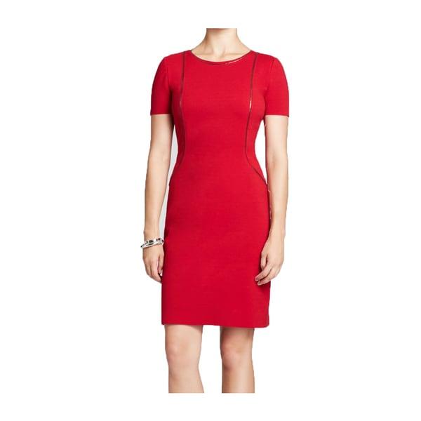 Elie Tahari Bentley Red Zip Seam Ponte Dress