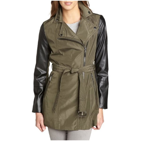Laundry by Shelli Segal Army Green Trench Coat