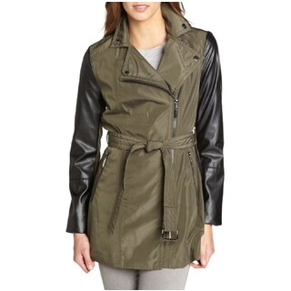 Laundry by Shelli Segal Army Green Trench Coat (Large)