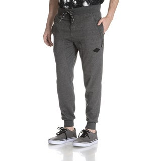 Shades of Black SOB Men's Cut and Sew Quilted Pullon Jogger Pants