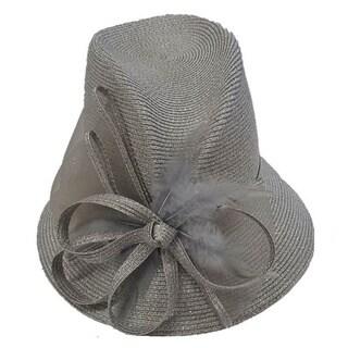 Swan Hat P.P Braid Metallic Silver Church/ Dressy Hat
