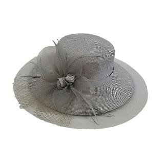 Swan Hat P.P Braid Metallic Wide Brim Church/ Dressy Hat