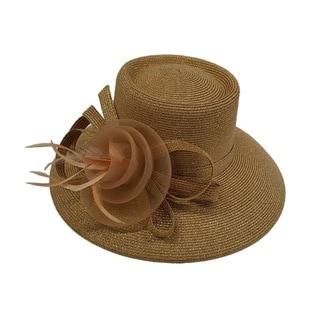 Swan Hat P.P Braid Metallic Gold Church/ Dressy Hat
