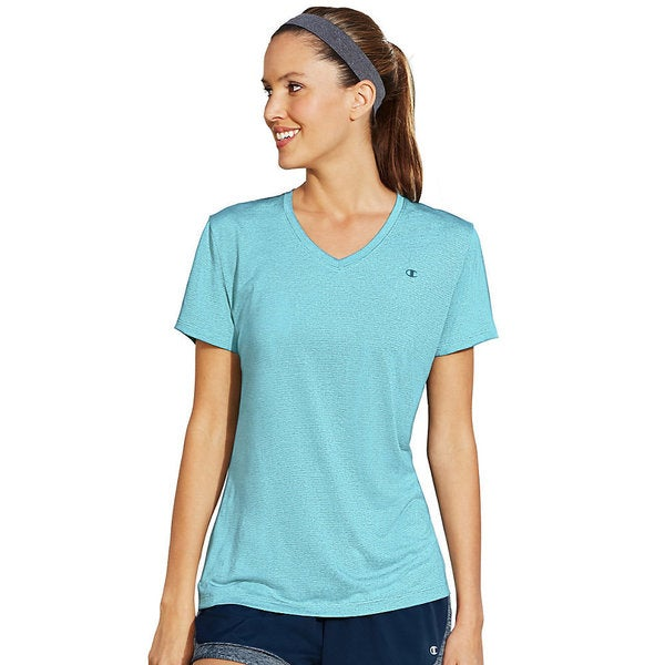 Champion Vapor Women's Stripe V-Neck T-Shirt