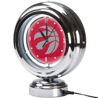 Toronto Raptors NBA Chrome Retro Style Tabletop Neon Clock