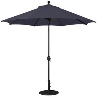 Galtech 9 ft. Deluxe Auto-Tilt Umbrella with Black Pole and Sunbrella Shade