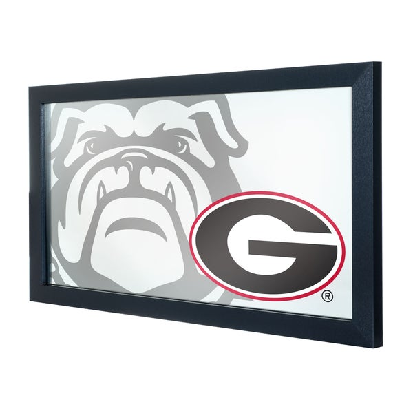 University of Georgia Framed Logo Mirror - Fade