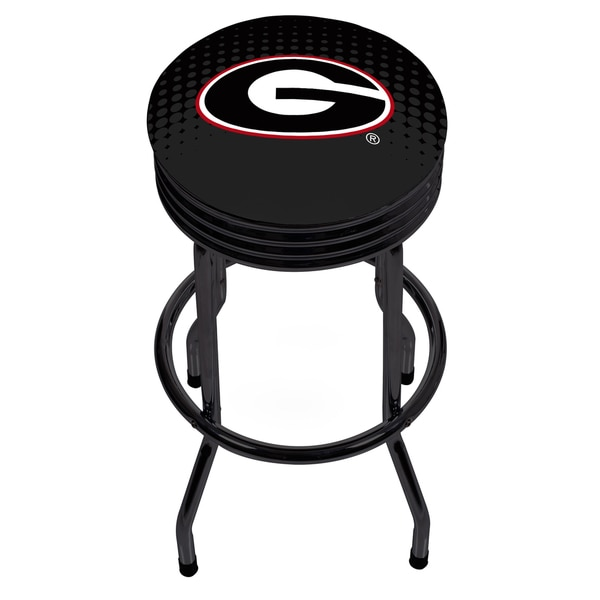 University of Georgia Black Ribbed Bar Stool - Reflection 17805114