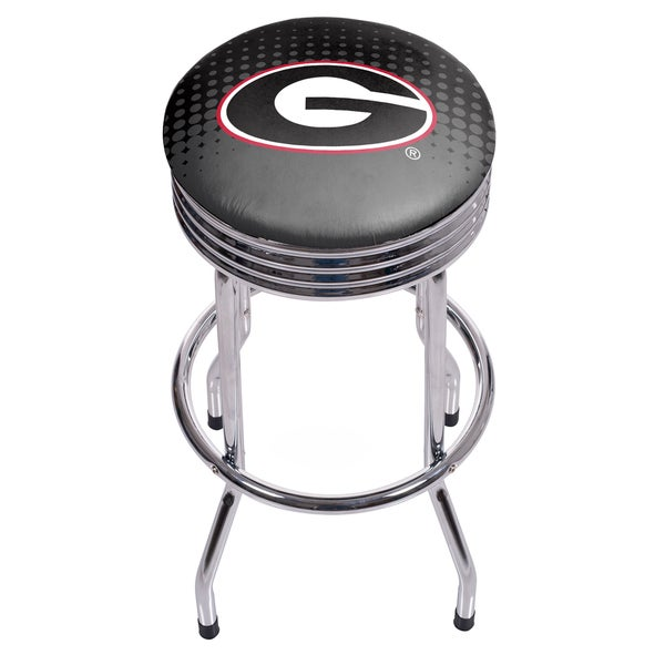 University of Georgia Chrome Ribbed Bar Stool - Reflection 17805127