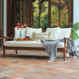 Cambridge Casual Como Solid Wood Outdoor Daybed with Cushion