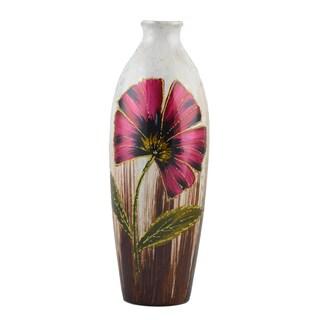 D'Lusso Designs Marisol Design 12-Inch Ceramic Vase