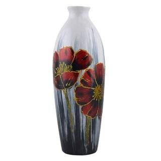 D'Lusso Designs Flora Design 12-Inch Ceramic Vase