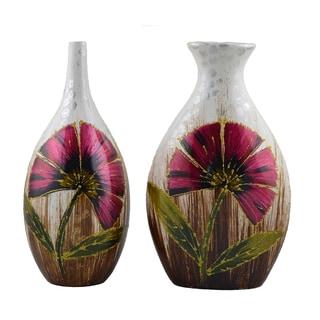 D'Lusso Designs Marisol Design 10-Inch Ceramic Vase Duet