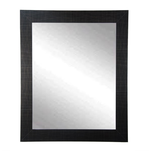 Scratched Black Wall Mirror 32 X 38