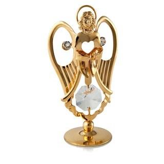 Matashi - 24k Goldplated Praying Angel Ornament Made with Genuine Matashi Crystals