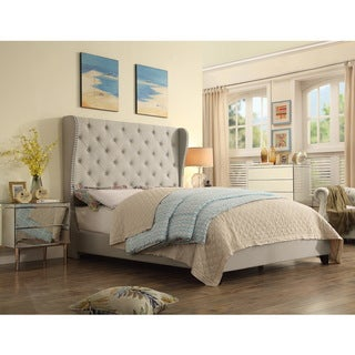 Moser Bay Queen Size Wingback Upholstered Bed Set