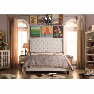 Moser Bay Eastern King Size Diamond Wingback Upholstered Bed Set