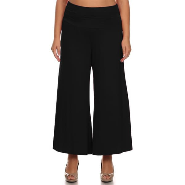 JED Women's Plus Size Wide Leg Capri Pants