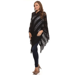 JED Women's Crochet Knit Tunic Poncho