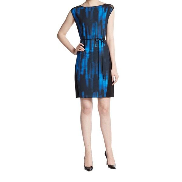 Elie Tahari Logan Women's Blue Printed Dress -  Fashion Habits LLC, ETLOGAN