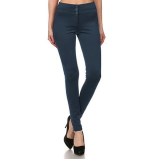 JED Women's Stretchy High Waisted Skinny Trouser Pants