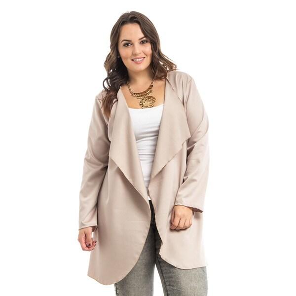 JED Women's Plus Size Drapey Blazer Cardigan