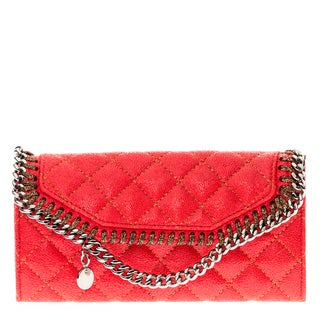 Stella McCartney Falabella Quilted Fold-Over Wallet
