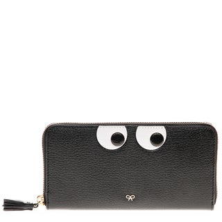 Anya Hindmarch Large Zip-Around 'Eyes' Grained Leather Wallet