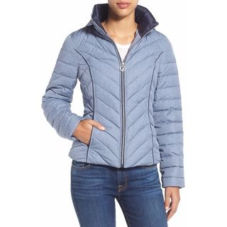 Nautica Woman's Blue Quilted Packable Jacket
