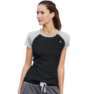 Champion Women's Power Cotton Raglan T-Shirt