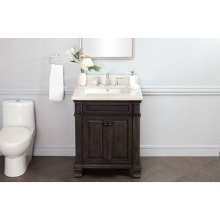 28 Inch Single Sink Vanity with Backsplash