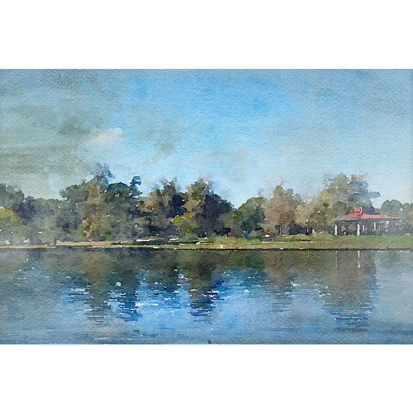 Marmont Hill 'Lake Balboa at Summer' by Irena Orlov Painting Print on Canvas