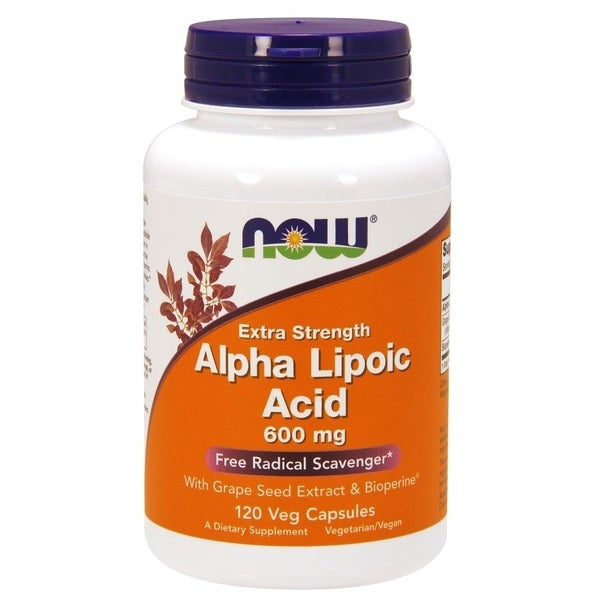 Now Foods 600 mg Alpha Lipoic Acid (120 Veggie Caps)
