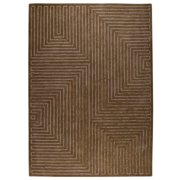 M.A.Trading Hand-Tufted Indo Toledo Grey/ Brown Rug (5'6 x 7'10)