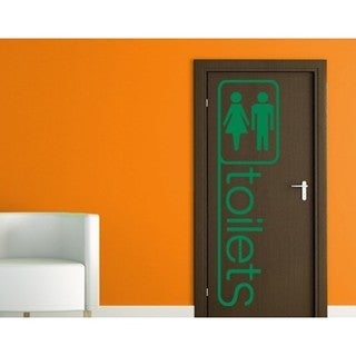 Toilets 2 Wall Decal Vinyl Art Home Decor