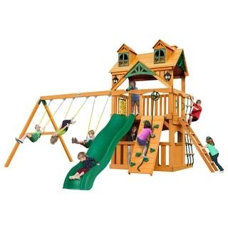 Gorilla Playsets Malibu Clubhouse Swing Set with Amber Posts