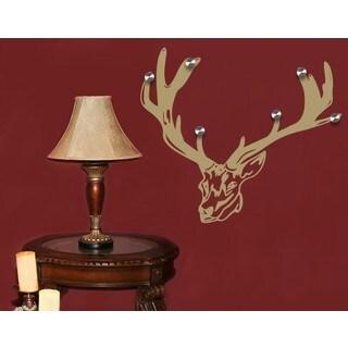 Deer Wall Hanger Decal Vinyl Art Home Decor