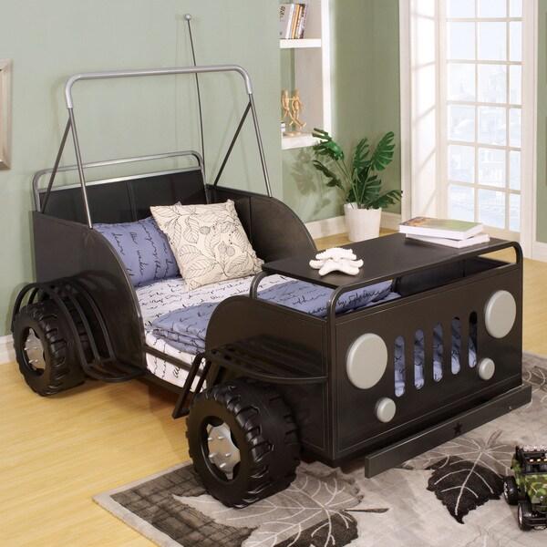 Furniture of America Jungler Metal Off-Road Vehicle Gun Metal Twin Bed 17840500