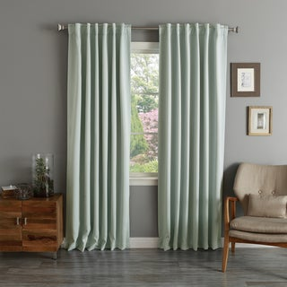 Aurora Home Rod Pocket Blackout Curtain Panel (Pair)