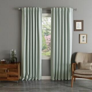 Aurora Home Rod Pocket Blackout Curtain Panel (Pair)