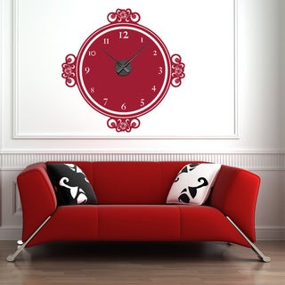 Decor Moments Wall Clock Vinyl Decor Wall Art