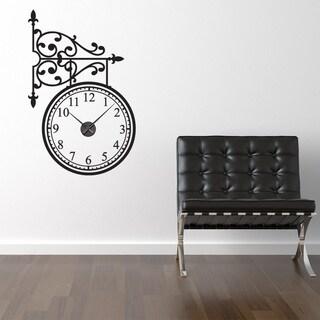 Trainstation Wall Clock Vinyl Decor Wall Art