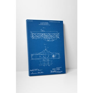 Patent Prints 'Wright Brother's Flying Machine' Gallery Wrapped Canvas Wall Art