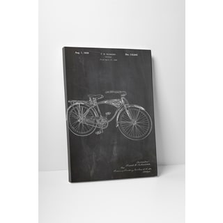 Patent Prints 'Schwinn Bicycle' Gallery Wrapped Canvas Wall Art