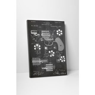 Patent Prints 'Revolver Mason' Gallery Wrapped Canvas Wall Art